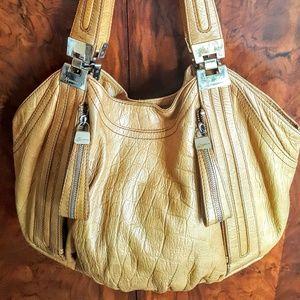 B. Makowsky hobo bag in caramel leather